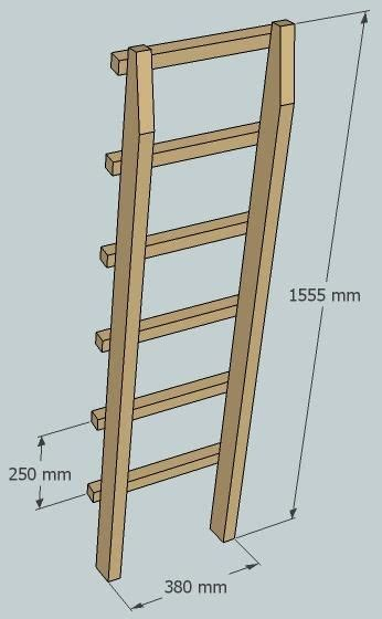 bunk bed ladder plans one legged bunk bed 9 steps with pictures