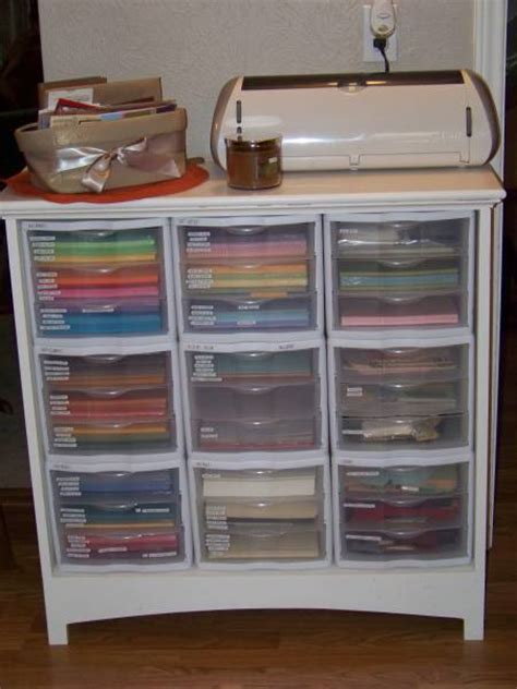 craft paper storage drawers my sting space by carolannb cards and paper crafts at