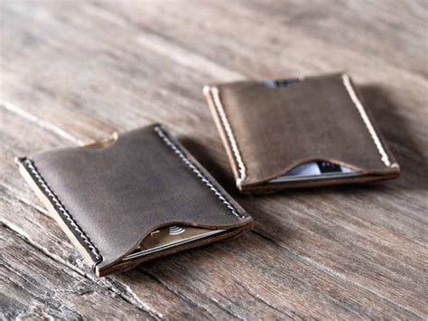 how to make a leather card holder s leather card holder wallet gifts for
