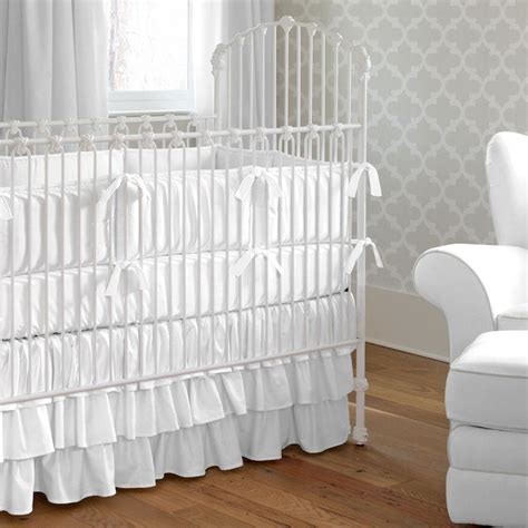 white baby crib sets white baby bedding solid white crib bedding carousel