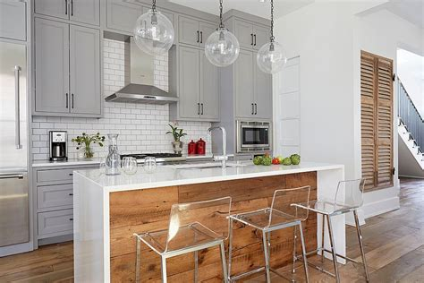 white kitchen wood island 20 gorgeous ways to add reclaimed wood to your kitchen