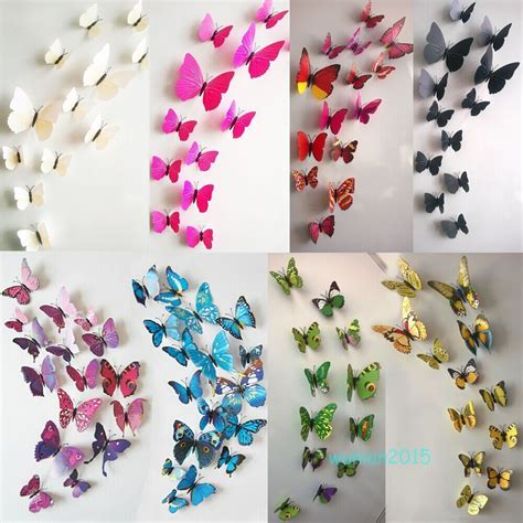 3d butterfly stickers for walls 12pcs decal home decor room wall stickers 3d butterfly