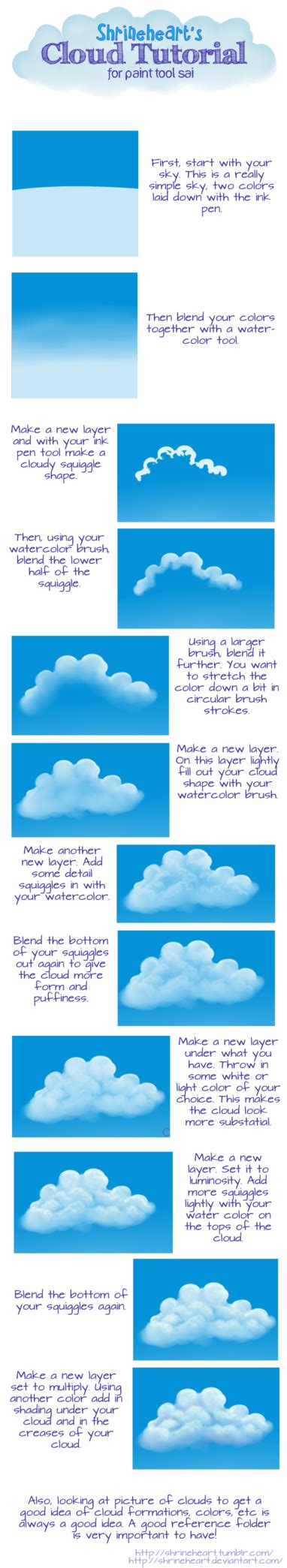 paint tool sai underwater tutorial tutorial paint tool sai clouds by shrineheart on deviantart