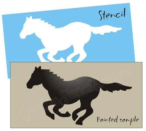 Design Your Own Home Nebraska primitive horse stencil running wild mustang pony cowboy