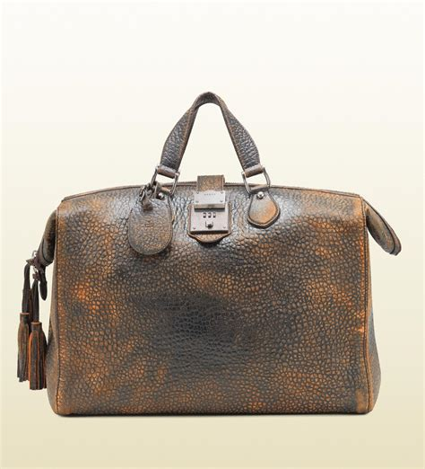 leather duffle bag mens gucci goldmark grainy leather duffle bag s bags