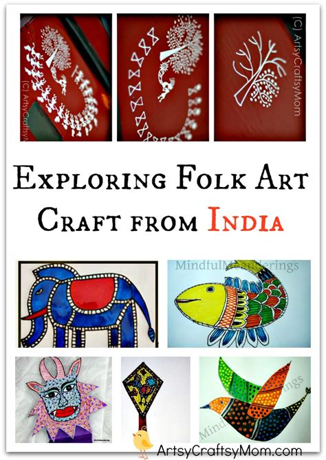 indian arts and crafts for exploring folk craft from india artsycraftsymom