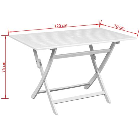 woodworking cl table vidaxl outdoor dining table white acacia wood rectangular