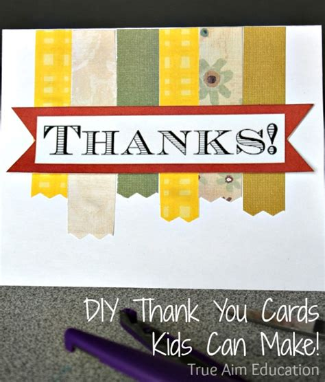 thank you cards can make november family challenge giving thanks with diy thank
