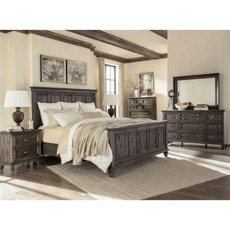 cal king bedroom furniture set calistoga charcoal 6 cal king bedroom set
