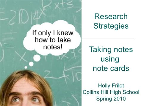 how to make research note cards taking notes with note cards