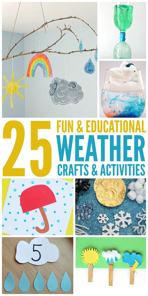 crafts and activities for 25 weather activities and crafts