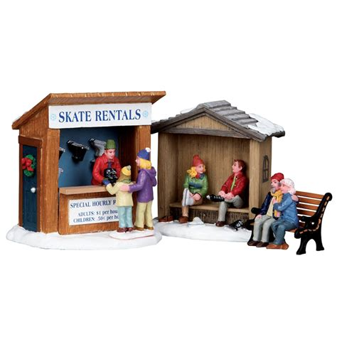 lemax set lemax skate rentals table accent set of 3 03849