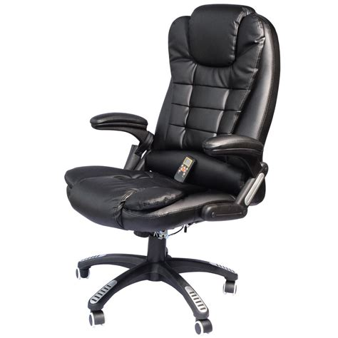 Massaging Computer Chair by Executive Ergonomic Heated Vibrating Computer Desk Office