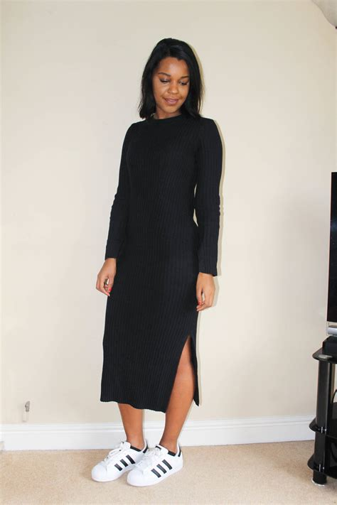 The H M Ribbed Knit Dress The Style Idealist