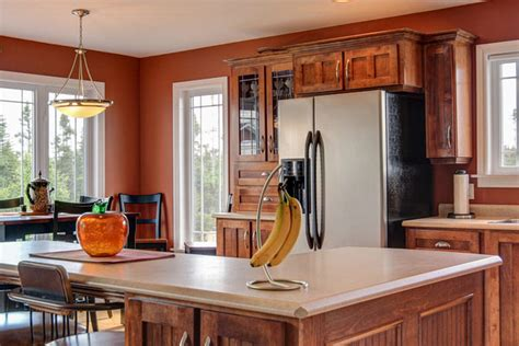 paint colors for kitchen with cherry cabinets kitchen paint ideas with cherry cabinets