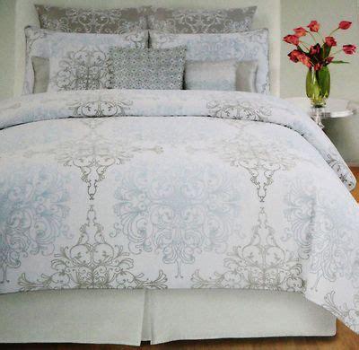 tahari home king comforter set tahari home grey blue damask scroll 3pc duvet