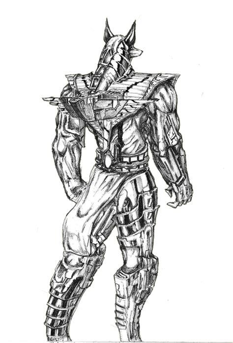 anubis warrior by okolawol on deviantart