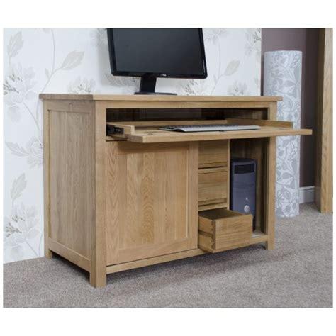 hideaway computer desks nero solid oak furniture home office pc hideaway computer