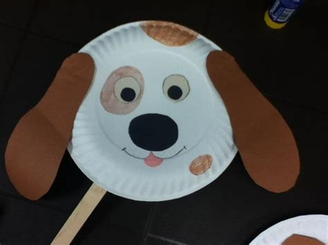 paper animal crafts paper plate craft doggie mask craft for toddlers