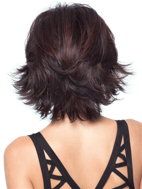hair with shag back view allure is a sexy mid length shag with shoulder length