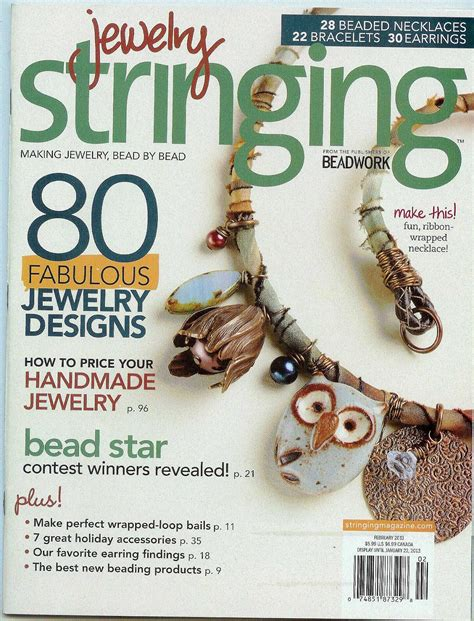 bead and jewellery magazine stringing magazine images
