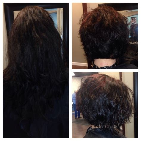 stacked bob haircut pictures curly hair before and after stacked curly bob hairstyles pinterest