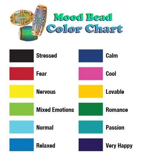 blue mood meaning what mood are you in mood bead color chart summer color