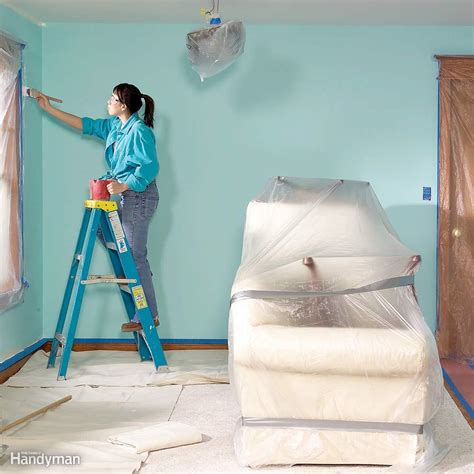 painting a room paint a room without a mess the family handyman