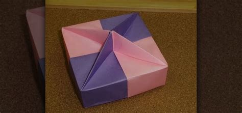 how to make a shaped box origami how to fold a square shaped gift box with a knob
