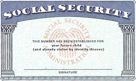 make your own social security card unborn id theft victims