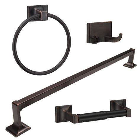 rubbed bathroom accessories rubbed bronze 4 bathroom hardware bath accessory