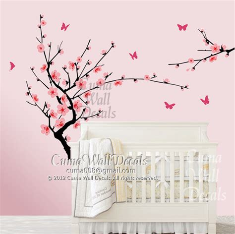 cherry blossom wall decal for nursery cherry blossom wall decal butterfly wall decals nursery by