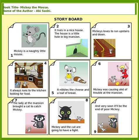 exles of picture story books storyboard template 11 free sle exle