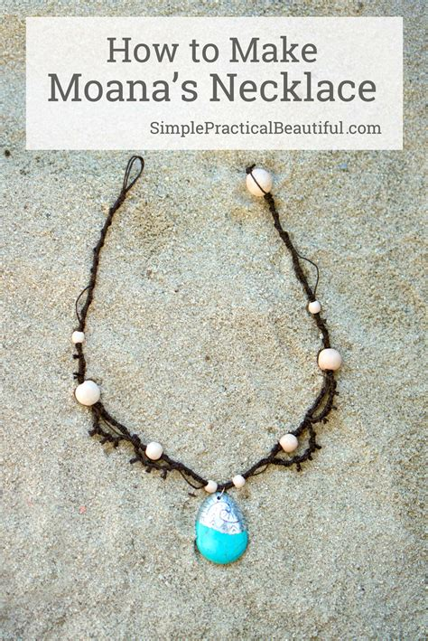 how to make jewelry for moana s necklace simple practical beautiful