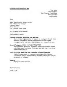 cover letter outline 21 job application cover letters