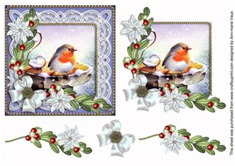 free decoupage downloads for card robin white poinsettia decoupage sheet