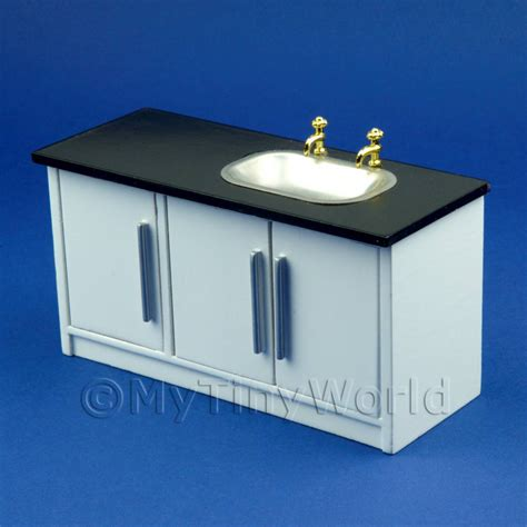 sink unit kitchen dolls house miniature furniture value dolls house