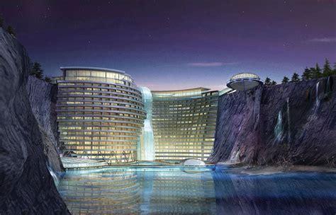 underground hotel groundscraper hotel intercontinental shimao shanghai