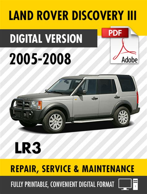 free service manuals online 2005 land rover lr3 spare parts catalogs 2005 2008 land rover discovery iii lr3 factory repair service manual workshop ebay