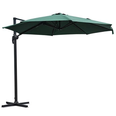 patio umbrella with stand 10ft outdoor patio hanging offset umbrella with stand