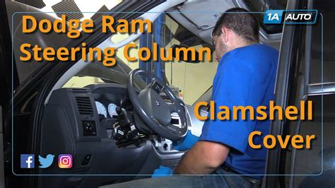 how to remove and reinstall steering column cover 08 dodge