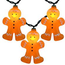gingerbread lights ul4227 gingerbread house string light set