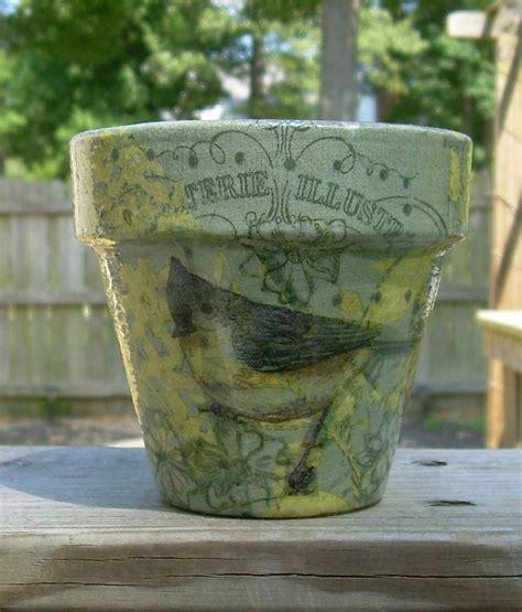 decoupage clay pots ideas 10 best images about flower pot on painted