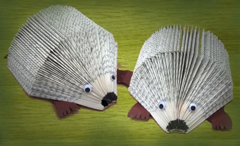 hedgehog picture book hedgehog made with folded pages craft pay it forward