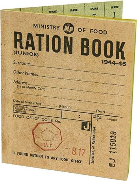 pictures of ration books ration book