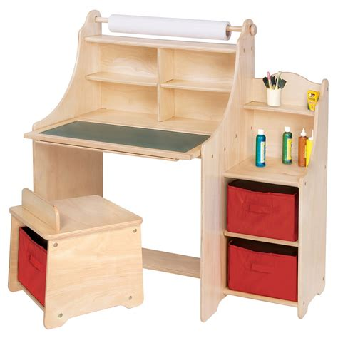 activity desks artistic activity desk w stool storage bins paper roll
