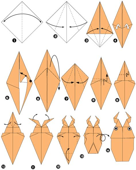 le origami origami of beetle