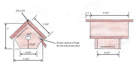 house wren birdhouse plans wren bird house bird house plans