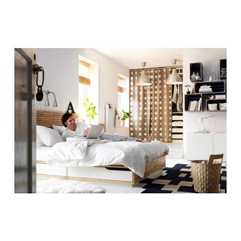 mandal headboard ikea mandal bed frame with headboard birch white 140x202 cm ikea