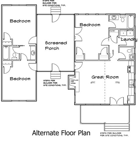 dogtrot house plan 3 bedroom trot house plan 92318mx architectural